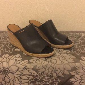 Women's Coach Leather Wedges